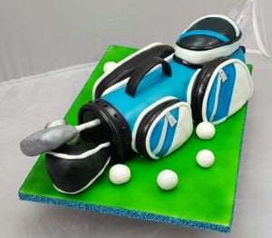 Golf club bag cake