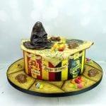 Harry potter houses cake