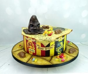 Harry potter houses cake